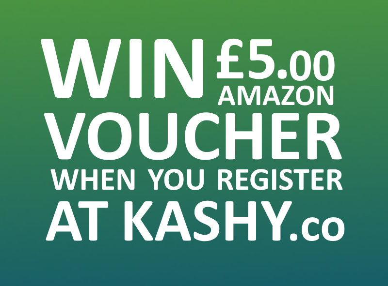 Win £5.00 Amazon Gift Voucher When You Register Today