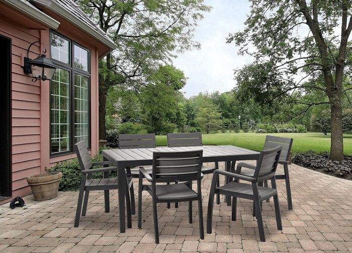 Keter Harmony Garden Furniture, Rectangular Patio Dining ...