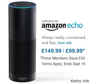Get Amazon Echo for £99.99 – Ends Soon