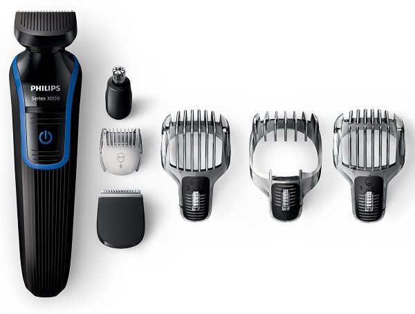 philips qg3337 15 series 3000 7 in 1 waterproof mens grooming kit beard stubble body trimmer. Black Bedroom Furniture Sets. Home Design Ideas