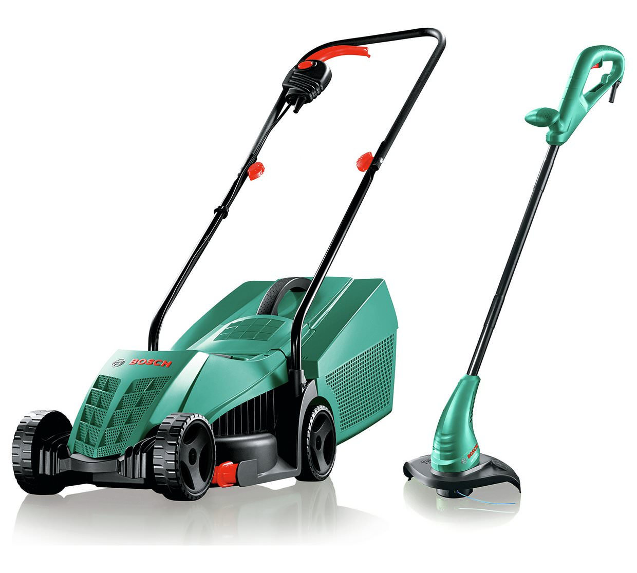 bosch rotak corded mower and trimmer twin pack at argos uk official site. Black Bedroom Furniture Sets. Home Design Ideas