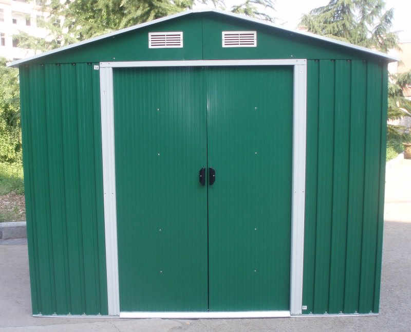 Metal garden storage shed different sizes starts for Garden shed sizes
