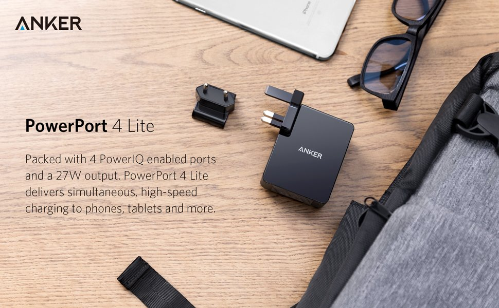 Anker Usb Charger 27w 4 Port Usb Wall Charger Powerport 4