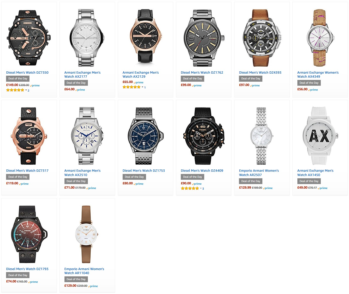 Armani And Diesel Watches For Less Than 163 150 Diesel Men S
