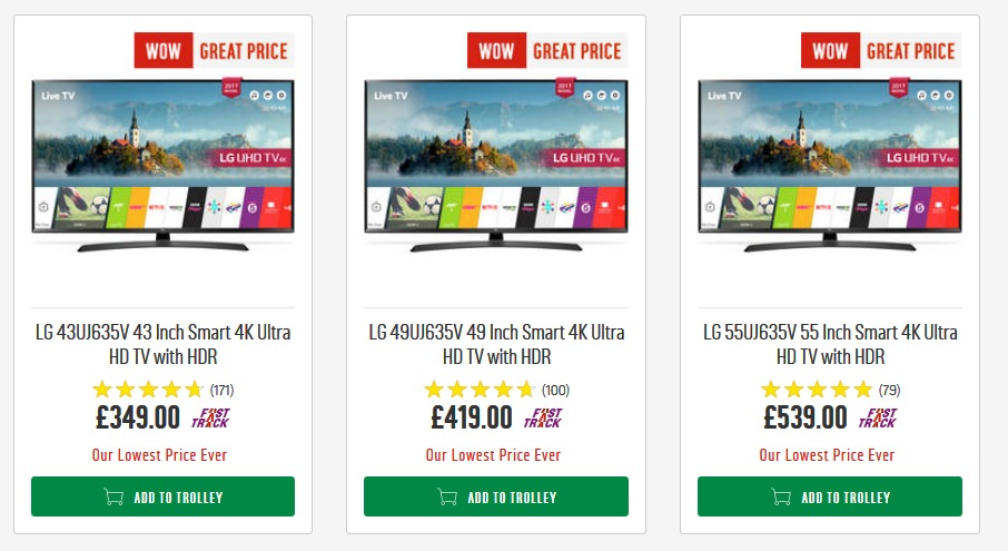 Lg 43uj635v 43 Inch Smart 4k Ultra Hd Tv With Hdr 349 At Argos