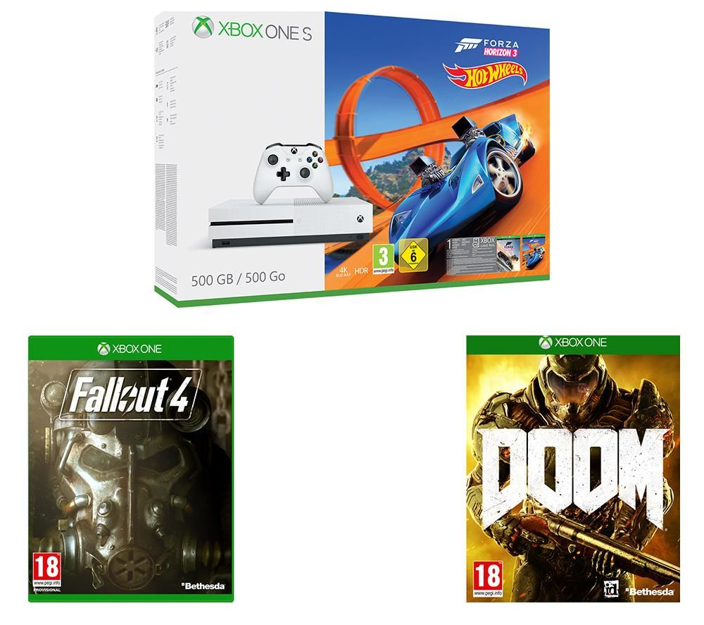 xbox one s 500gb with forza horizon 3 hot wheels. Black Bedroom Furniture Sets. Home Design Ideas