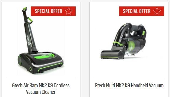 gtech air ram mk2 k9 cordless vacuum cleaner gtech multi. Black Bedroom Furniture Sets. Home Design Ideas