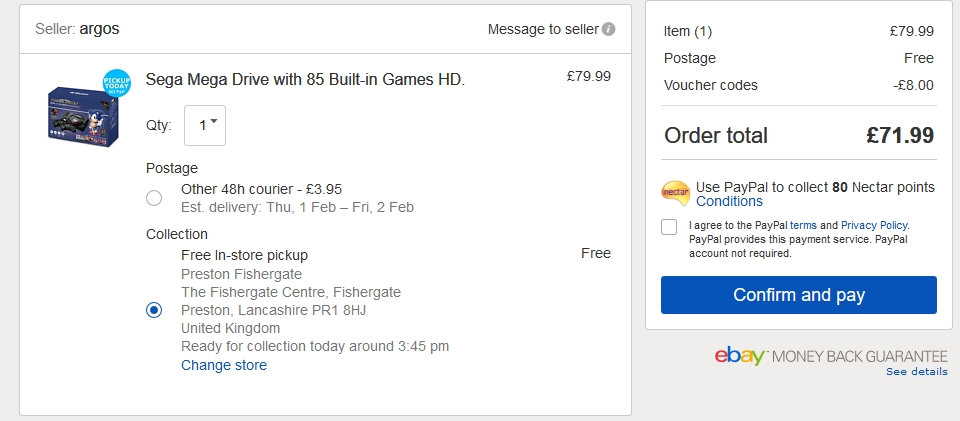 Sega Mega Drive with 85 Built-in Games HD £71 99 with Code