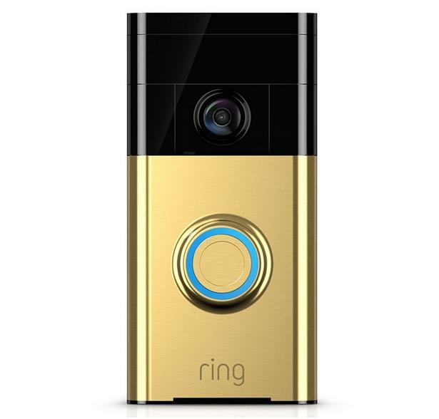 ring wi fi video doorbell polished brass 99 at robert. Black Bedroom Furniture Sets. Home Design Ideas