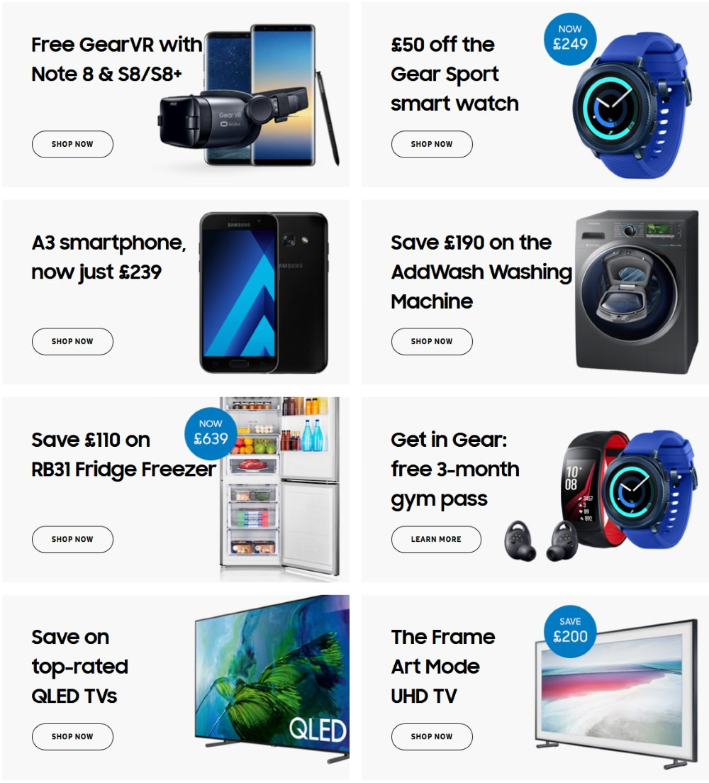 flash sale this weekend only at samsung ends monday