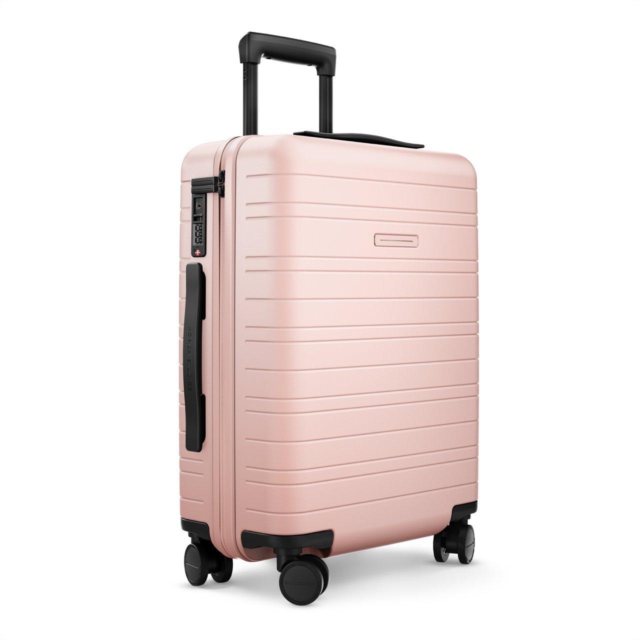 horizn studios carry on suitcase cabin trolley model h 55 cm 35 l 4 wheels lightweight. Black Bedroom Furniture Sets. Home Design Ideas