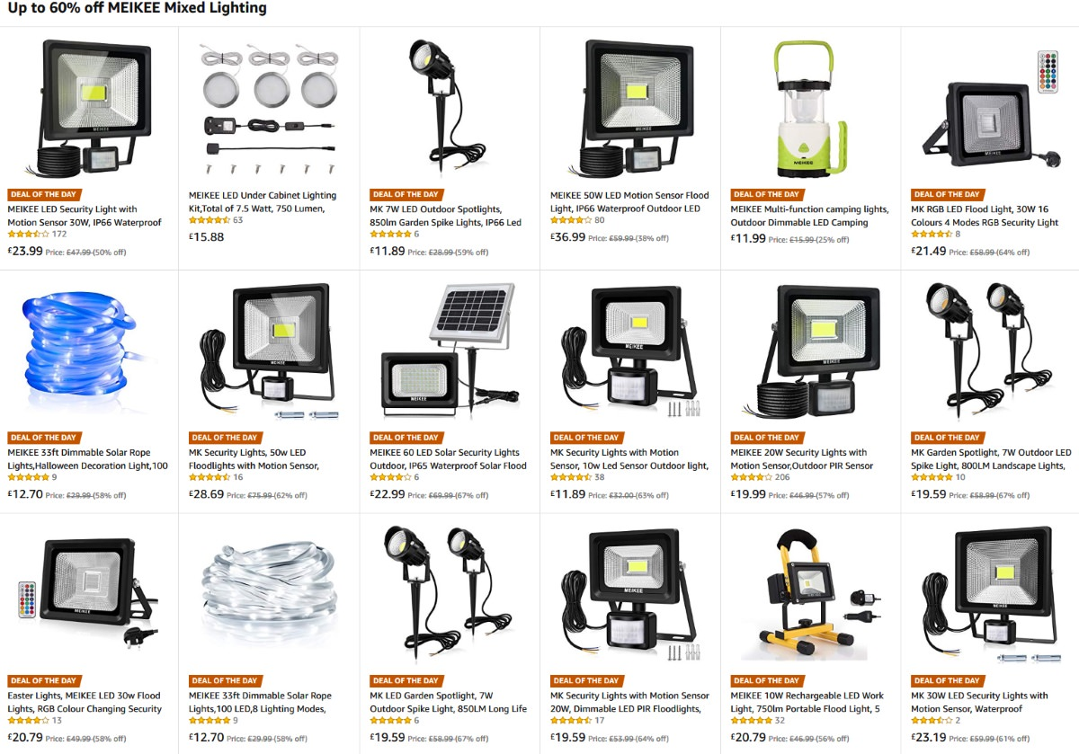 BIG SAVINGS On MEIKEE Mixed Lighting Up To 60% Off U2013 Only For Today At  Amazon