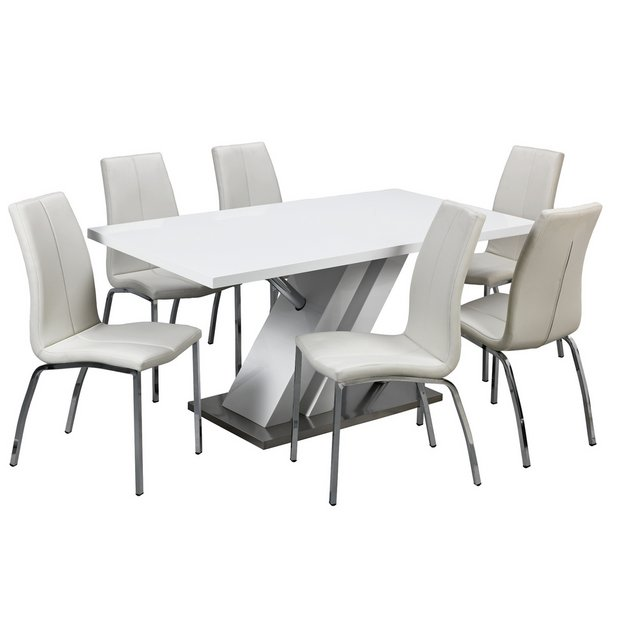 Argos Garden Table And Chairs Sale: Argos Home Belvoir Pedestal Table And 6 Chairs