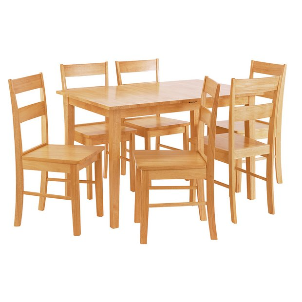 argos home chicago extendable table 4 chairs natural. Black Bedroom Furniture Sets. Home Design Ideas