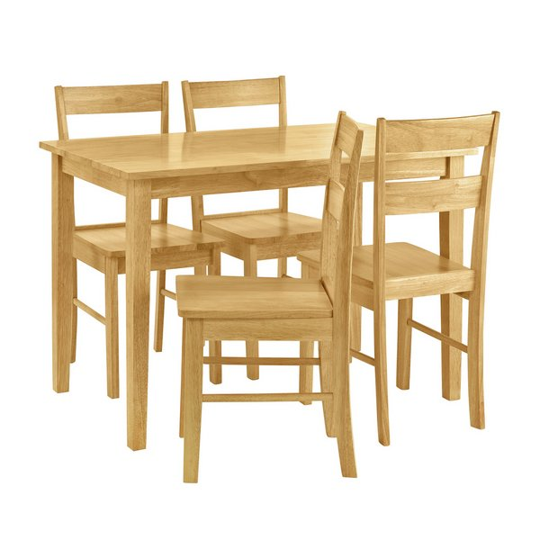 Argos Sale Kitchen Table And Chairs: Argos Home Chicago Solid Wood Table & 4 Chairs