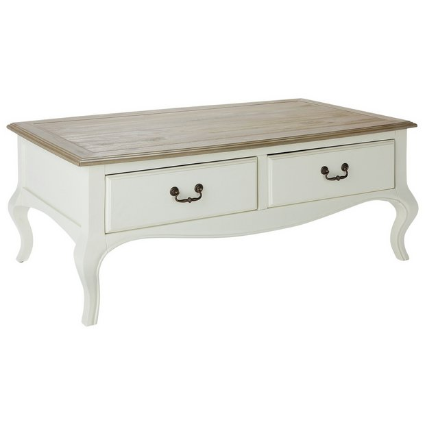 Argos Home Harper 2 Drawer Solid Wood Coffee Table 13679