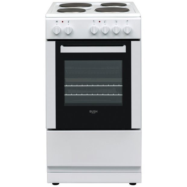 bush dhbes50w single electric cooker white or black 113. Black Bedroom Furniture Sets. Home Design Ideas
