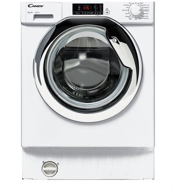 candy cbwm814dc 8kg 1400 spin integrated washing machine. Black Bedroom Furniture Sets. Home Design Ideas