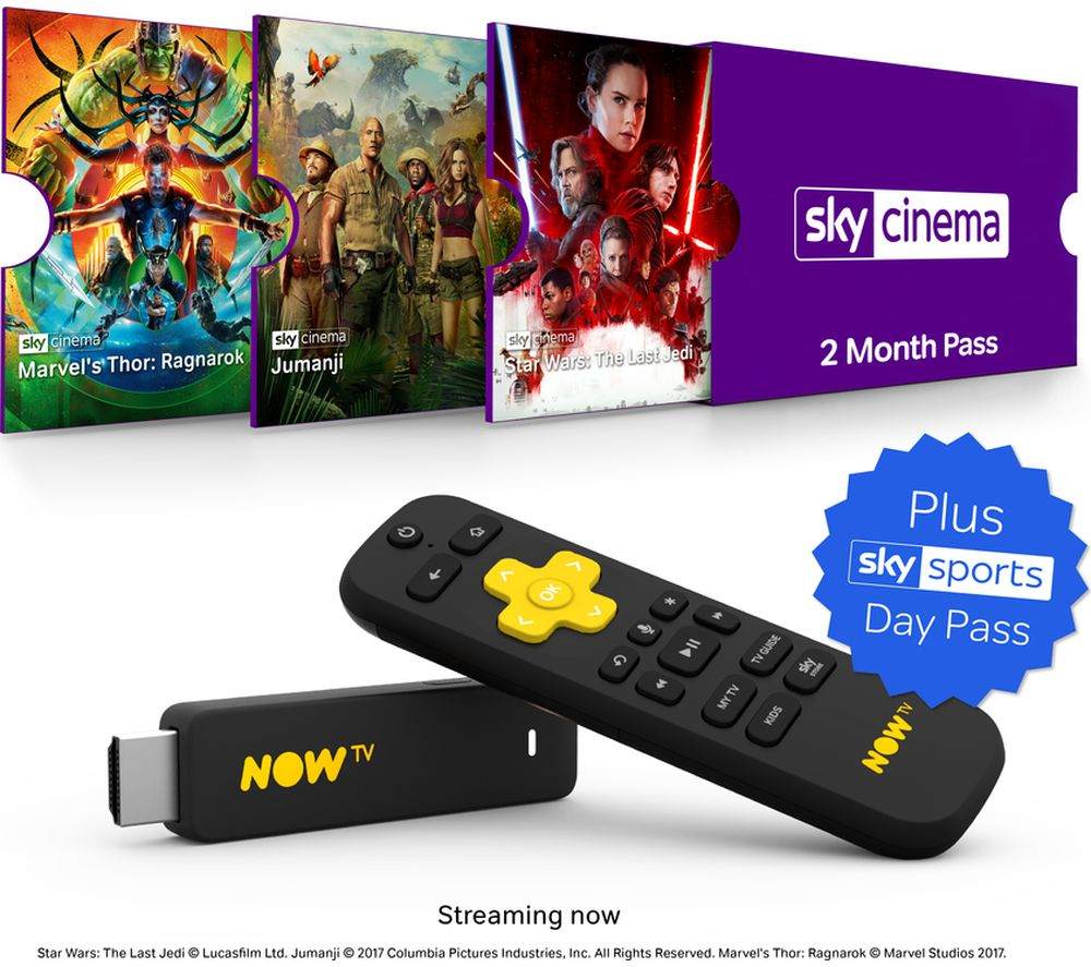 NOW TV Smart Stick with HD & Voice Search - 2 Month Sky Cinema Pass