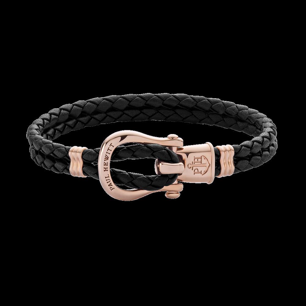 Bracelet Phinity Ip Rose Gold Black 163 49 95 Paul Hewitt