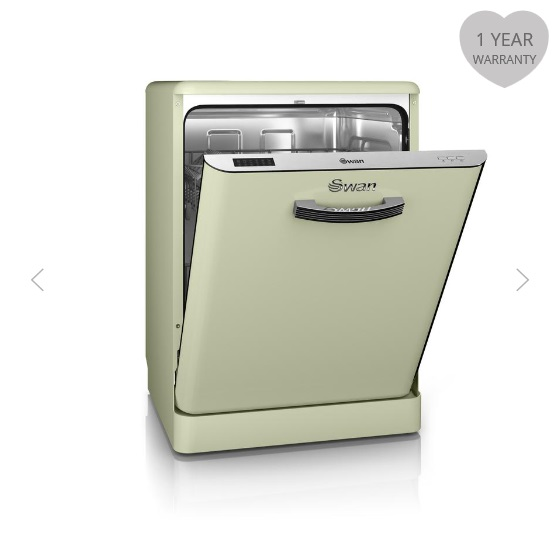 Swan Retro Dishwashers Green