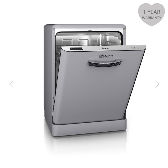 Swan Retro Dishwashers Grey