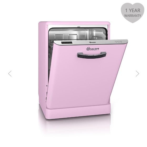 3% Cashback on Swan Retro Dishwashers Pink