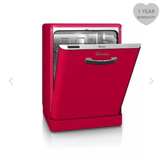 Swan Retro Dishwashers Red