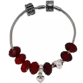 Miss Glitter S.Silver Kids Red Made-Up Bracelet with Box