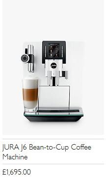 JURA J6 Bean-to-Cup Coffee Machine