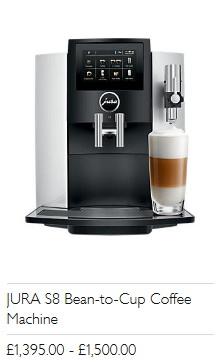 JURA S8 Bean-to-Cup Coffee Machine