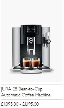 JURA E8 Bean-to-Cup Automatic Coffee Machine