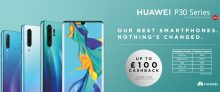 £100 Cashback on Selected Huawei Phones