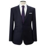 John Lewis Super 120s Wool Stripe Tailored Fit Suit Jacket, Navy £42.00 @ JL