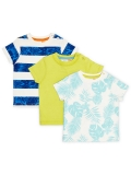 Baby Coastline Tropical T-Shirt, Pack of 3, Now £6 at John Lewis