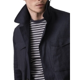 Reiss Highbury Linen Field Jacket, Indigo £135.00 at John Lewis
