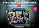 £10 Cashback on Call of Duty WWII for New and Existing Members at TopCashback