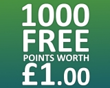 Get 1000 FREE Points Worth £1.00 Here at Kashy.co