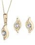 Love GOLD 9 Carat Yellow Gold Double Swirl Crystal Earrings and Pendant Set £120.00 at Littlewoods