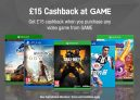 £15 Cashback at GAME with TopCashback