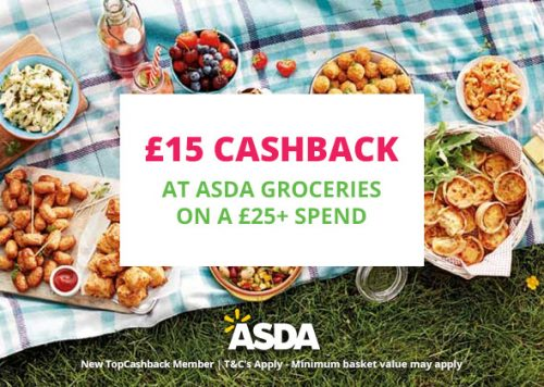 15 Cashback On 25 Spend At Asda Groceries Using