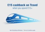 £15 Cashback on Travel When Spending £15+ with TopCashback