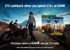£15 Cashback When You Spend £15+ at GAME via TopCashback