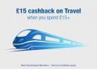 £15 Cashback When You Spend £15 on Travel at TopCashback