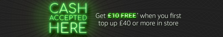 Free £10 Amazon Credit When You Top Up £40 in Store