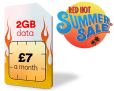 2GB Data, 1500 Mins & Unlimited Texts ONLY £7 a Month at Virgin Media – SUMMER SALE