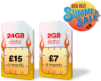 24GB Data, 2500 Mins & Unlimited Texts ONLY £15 a Month at Virgin Media – SUMMER SALE