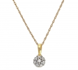 Revere 9ct Gold 0.25ct tw Diamond Cluster Pendant £78.99 at Argos