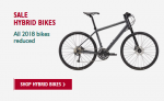 ALL 2018 Hybrid Bikes Reduced, from £190 @ Evans Cycles