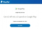 £2 Off with Minimum £2 Spend on Google Play Using PayPal